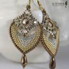 Kolczyki Złote,bogate kolczyki w stylu indyjskim