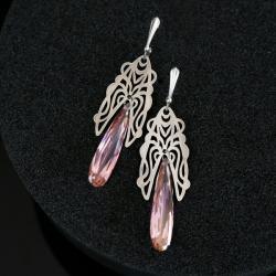 srebrne kolczyki,długie kolczyki - Kolczyki - Biżuteria