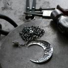 Naszyjniki księżyc,naszyjnik,srebrny wisior