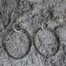 Kolczyki kolczyki srebro minimalistyczne koła lekkie