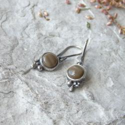 kolczyki z krzemieniem pasiastym - Kolczyki - Biżuteria
