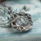 Naszyjniki naszyjnik,wire-wrapping,wisior,długi,kryształ