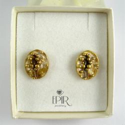 Kolczyki srebrne pozłacane - Kolczyki - Biżuteria