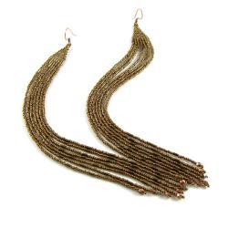 Extra długie,kolczyki indiańskie,koralikowe - Kolczyki - Biżuteria