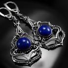 Oanez - srebrne kolczyki z lapis lazuli .