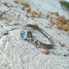 Pierścionki pierścionek z apatytem