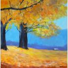 Obrazy jesień,pomarańcz,drzewa
