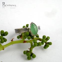 chryzopraz,zieleń,mięta - Pierścionki - Biżuteria