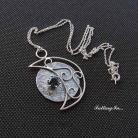 Wisiory wisiorek,z topazem,księżyc,romantyczny,srebro