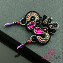 długie,różowe,czarne,sutasz,lśniące - Kolczyki - Biżuteria