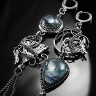 Kolczyki srebrne,olczyki,wire-wrapping,apatyt,ważka,ciba