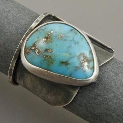 pierścionek z turkuse, - Pierścionki - Biżuteria