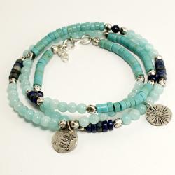 koraliki,bransoleta etniczna - Bransoletki - Biżuteria