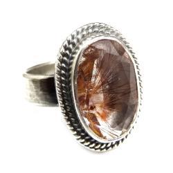 zlocisty,blask,srebrny,filigran,retro,rutyl - Pierścionki - Biżuteria