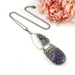 naszyjnik,wisior,wire-wrapping,misterny,długi, - Wisiory - Biżuteria