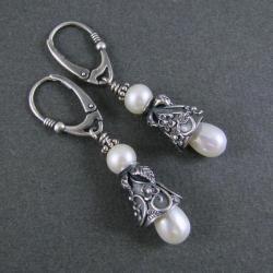 kolczyki-dzwonki,kwiatowe,ozdobne - Kolczyki - Biżuteria