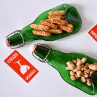 Ceramika i szkło miseczki z butelek,zielone talerzyki,szklane