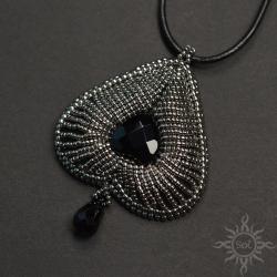 pik,karty,srebrny,serce,3D,efektowny,misterny - Wisiory - Biżuteria