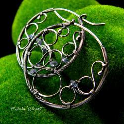 Nehesi,Kolczyki,ze Srebra,wire wrapping,tanzanitem - Kolczyki - Biżuteria