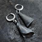 Kolczyki Srebrne surowe kolczyki