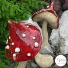 Ceramika i szkło las,ogród,leśny,grzyb,rzeźba