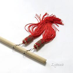 kolczyki,boho,czerwone,długie - Kolczyki - Biżuteria