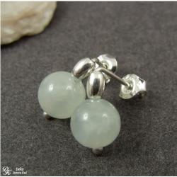 kolczyki,mini,akwamaryn,srebro,niebieskie,wkrętki - Kolczyki - Biżuteria