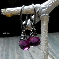 eleganckie kolczyki,kolczyki z kwarcem - Kolczyki - Biżuteria