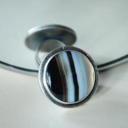duży pierścień,onyks,nitza,autorska - Pierścionki - Biżuteria