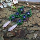 Kolczyki aillilstudio,haft koralikowy,letnie,pastelowe