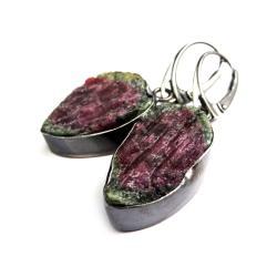 rubin,blask,iryzacja,szlachetne,okazałe,srebrne - Kolczyki - Biżuteria