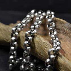 gruby łańcuch,srebrny łańcuch - Naszyjniki - Biżuteria