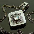 Naszyjniki kamień księżycowy,naszyjnik,srebro,wisior