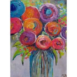 kwiaty,abstrakcja,róż,czerwień - Obrazy - Wyposażenie wnętrz