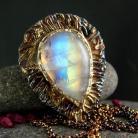 Naszyjniki kamień księżycowy,srebro,naszyjnik,unikat