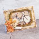 Kartki okolicznościowe życzenia,rower,shaker box