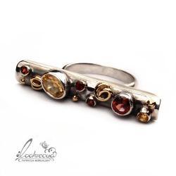 oryginalny pierścionek,pierścionek ze złotem - Wisiory - Biżuteria