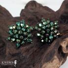 Kolczyki kolczyki drobne,krótkie,eleganckie,zielone