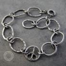 Bransoletki srebro,pacyfka,kuta,łańcuch,surowa,