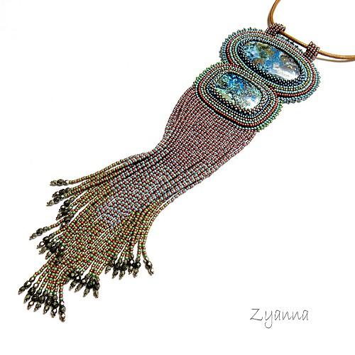 30cca51cbdd01a naszyjnik,Boho,oryginalny,długi,stonowany - Naszyjniki - Biżuteria w ...