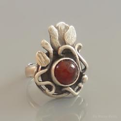 artystyczny,tulipan,ornament,ela rubin - Pierścionki - Biżuteria