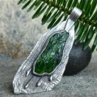 Wisiory zielony kamień,wisior z diopsydem