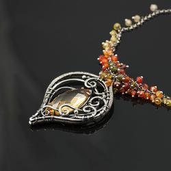 naszyjnik,wire-wrapping,oryginalny,piękny - Naszyjniki - Biżuteria