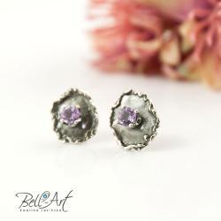 surowe,błyszczące,fasetowane,subtelne - Kolczyki - Biżuteria