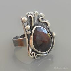 szafir,unikat,artystyczny,ela rubin - Pierścionki - Biżuteria