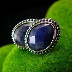 Nehesi,kolczyki,srebrny,srebrne,szafirami - Kolczyki - Biżuteria