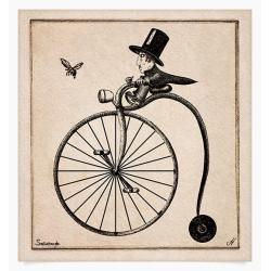 albert,rower,rycina,rysunek,kolaż - Ilustracje, rysunki, fotografia - Wyposażenie wnętrz