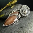 Kolczyki srebro,kolczyki,kamień słoneczny
