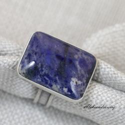 srebro,dumortieryt - Pierścionki - Biżuteria