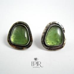 Kolczyki srebrne z serpentynitami - Kolczyki - Biżuteria
